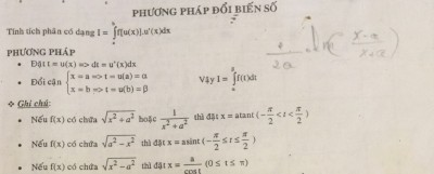 Chuyên đề tích phân luyện thi đại học buộc phải nhớ công thức tích phân